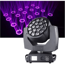 DJ lighting equipments 19x15w rgbw 4in1 K10 bee eye led moving head light led stage light for disco