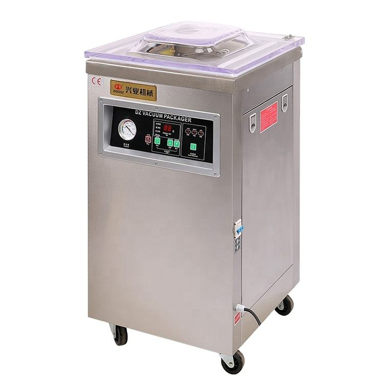 DUOQI DZ-400 series table top electrical control packing sealer single chamber vacuum packaging machine for sale