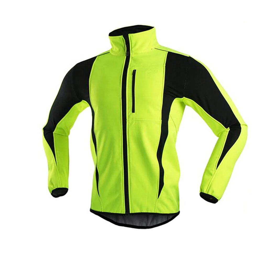 Sports apparel custom fit long sleeve reflective cycling jacket for men women
