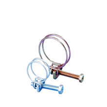 Clip spring steel two wire hose clamp