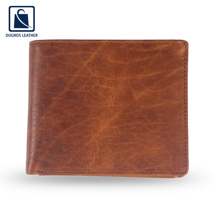 Bulk Small Genuine Leather Men Wallets from India - Available in Custom Colors