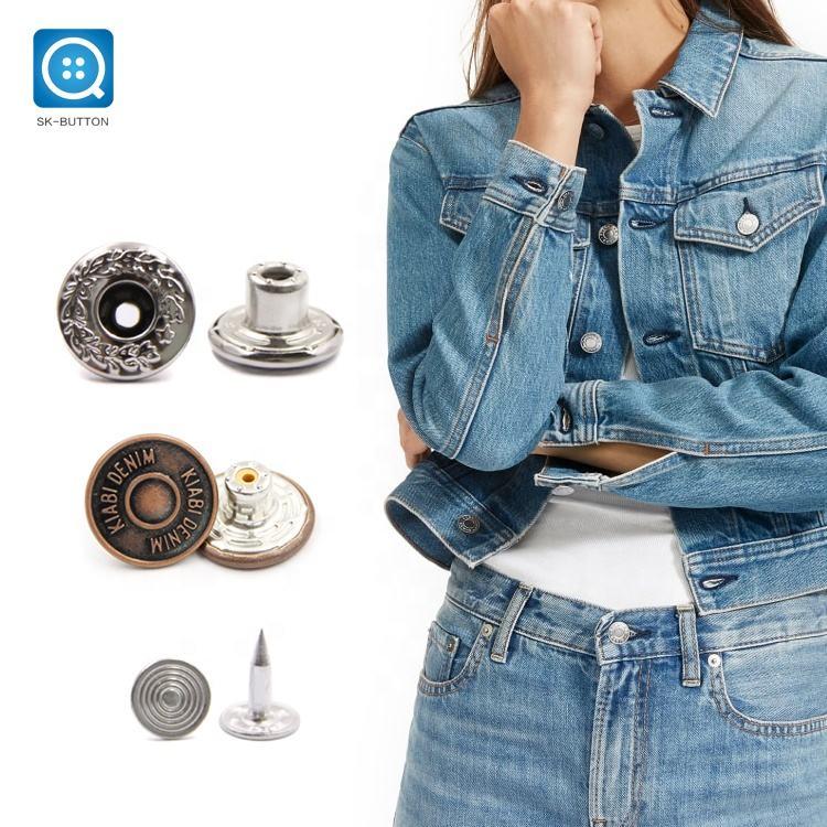 17 COLOUR 11mm 18mm Shiny Print Buttons Coat Jacket Shirt Jeans BUY 2 4 8+