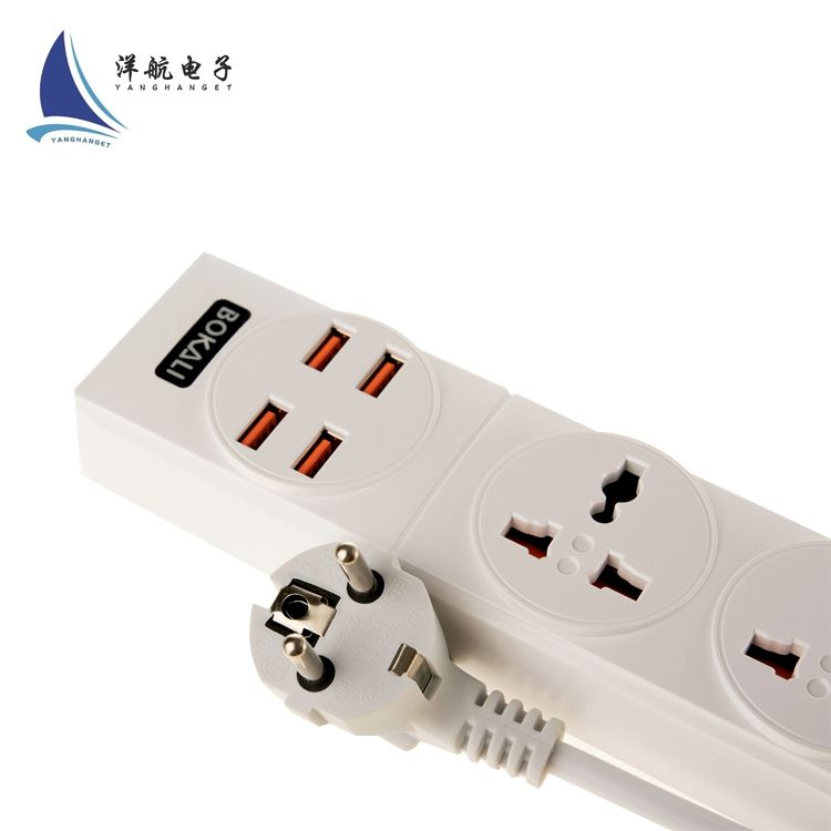 Premium Smart Outlet Power Strip 100-250V Surge Protector 3 Outlet Smart Power Strip with USB Ports
