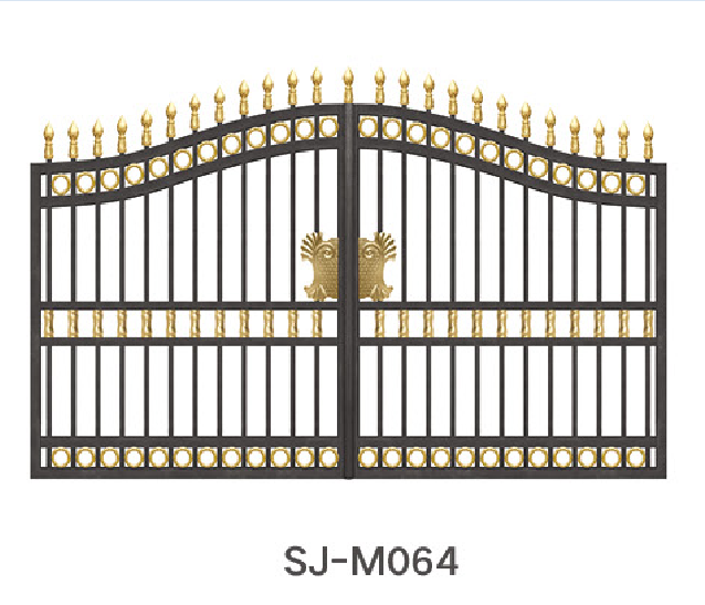 Aluminum single swing driveway gates and aluminum garden gates for sale