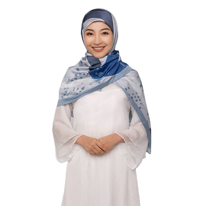 Ladies Floral Print Hijab Voile Scarf New Design Cotton Scarf For Muslim Malaysia Women Hijab