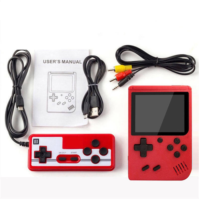 Sup Console Game Box 400 in 1 Classic Games Retro Handheld Mini Game Console Support Double player for Christmas Gift
