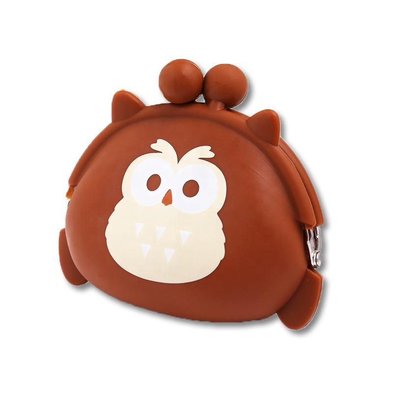 Girl Lovely Owl Shape Coin Purse Little Change Money Coin Wallet Silicone Bank Money Bag