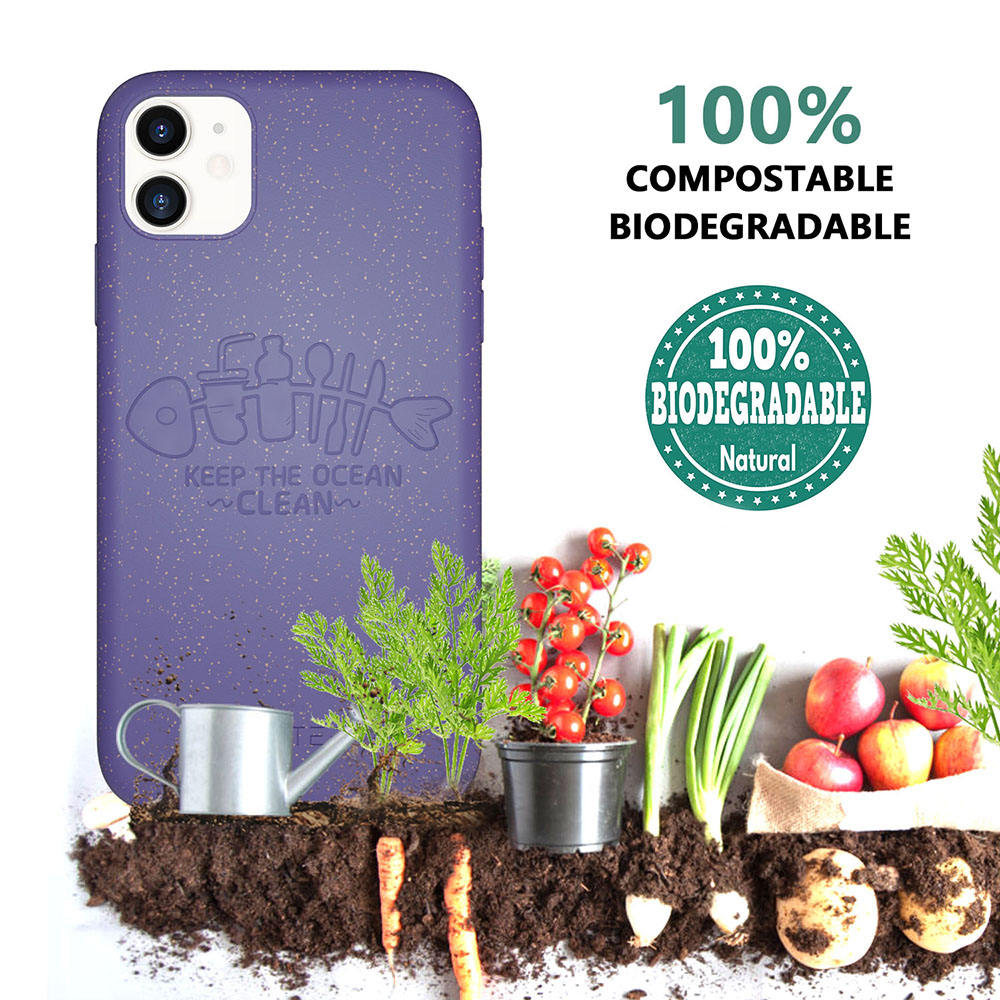 Eco-friendly Wheat Retro Retail Recycled Rectangle Quality Protective Private Label Biodegradable Soft bio Phone Case