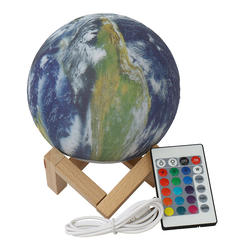 Exquisite Gift 15CM 3 Color Earth Lamp For Children Bedroom Moon Lamp Night Light