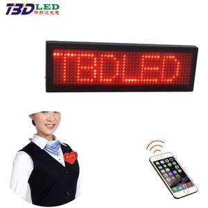 Mobile phone App bluetooth control Multi-Language Programmable Scrolling LED Name Badge Smart Name Tag LED Sign
