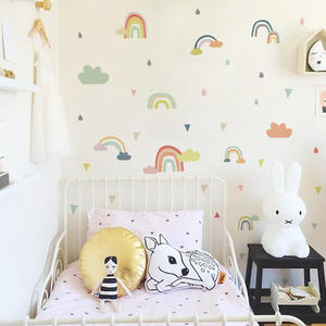 Removable DIY colorful rainbow wall sticker for drawing room
