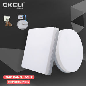OKELI fábrica de Zhongshan 18w 24w 36w 48w ronda superficie regulable led montado en panel de luz led panel lámpara de interior