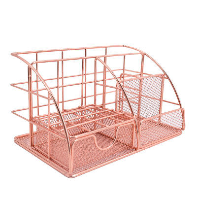 Home Office Metal Wire Organizer Set Mesh Desk Accessories