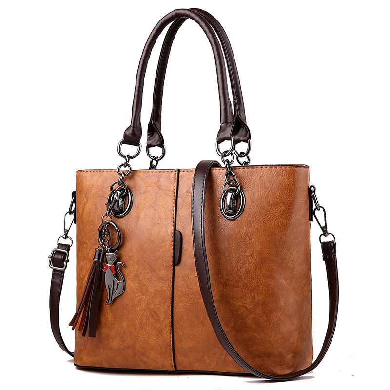 China 2019 Top Handle Daily Work PU Leather Tote Bag Women With Low Price