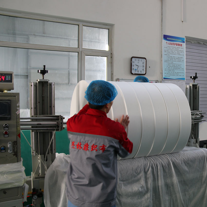[FACTORY] Wet wipes raw material supplier,plain spunlace white color (nonwoven/non-woven/roll)