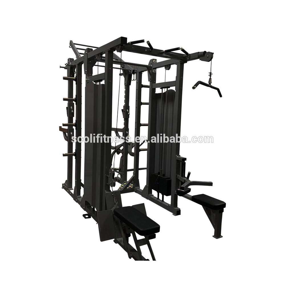 Rak Daya Fitness Multi Gym HD Mesin Smith, Rak Daya Elit HD, Pengunci Pintu, Panjang, Squat, Rak Daya