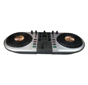 Audio music dj equipment sound power system midi controller with large scratch wheels