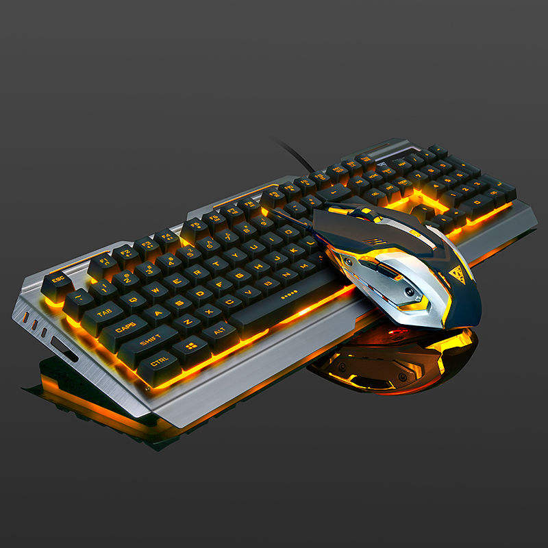 BUBM <span class=keywords><strong>Keyboard</strong></span> dan Mouse Gaming Mekanis, LED Gamer