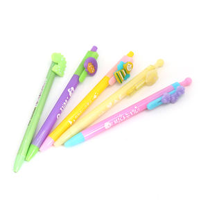 cute cartoon ball pen plastic custom logo for school