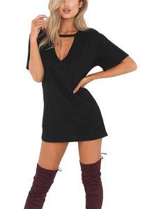 Hot Sale V-Neck Bandage High Waist Belted Knee Length Evening Dress