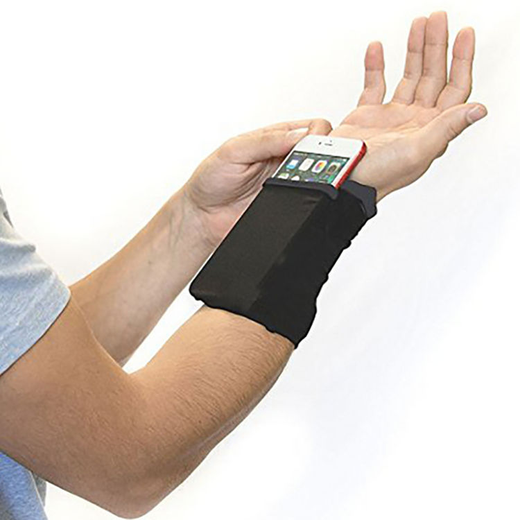 Sports Wrist Band Wallet For Card Cash Phone Spandex Pocket Wrist Wallet Pouch