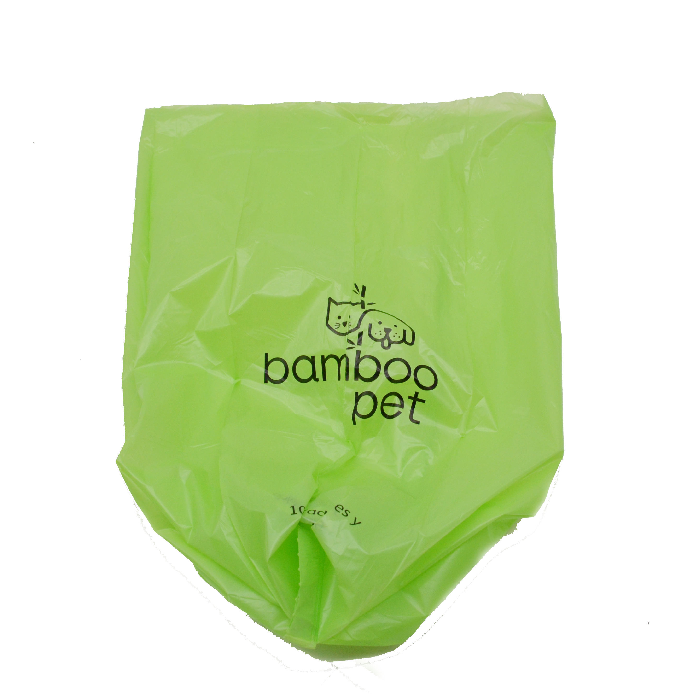 Biodegradable and ok compost home pet dog poop bag customized printing pla poop bag