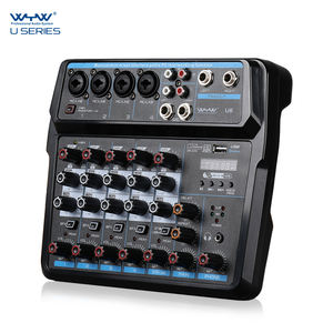 2020 Newest Mini 6 Channel USB Audio Mixer Console With Bluetooth