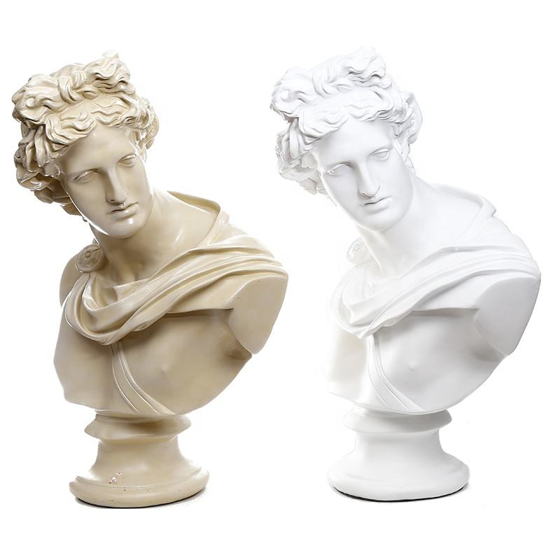 European greek bust art drawing sketch resin sculpture crafts creative model mini polyresin statue decoration ornament