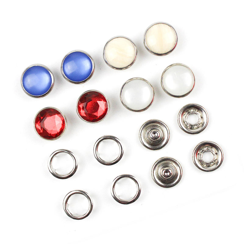 Decorative Fancy Snap Button Pearl Diamond Jewellery Fastener Shirt Jewelry Prong Snap Button