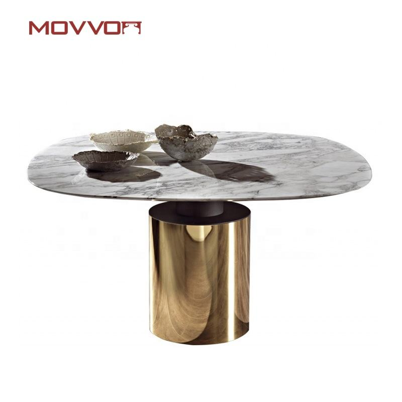 Factory direct sales trendy Modern Furniture round dining table Home Use