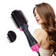 Hair Brush Private Label Flat Iron Hot Air Pick Electric Comb One Step Hair Dryer Fast Hair Straightener Brush Hot Air Brush