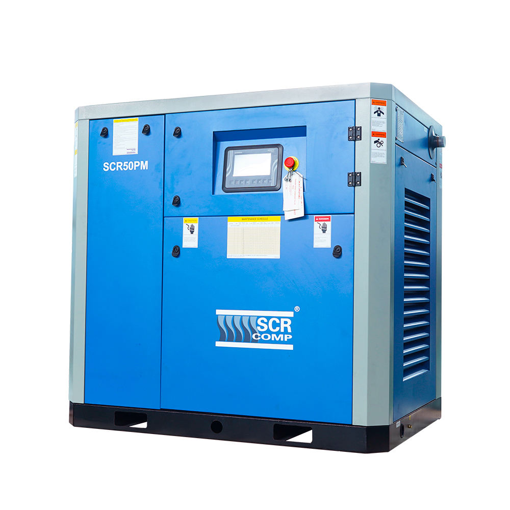 37kw 50hp Permanent Magnetic rotary screw air compressors Compressor with inverter (SCR50PM)