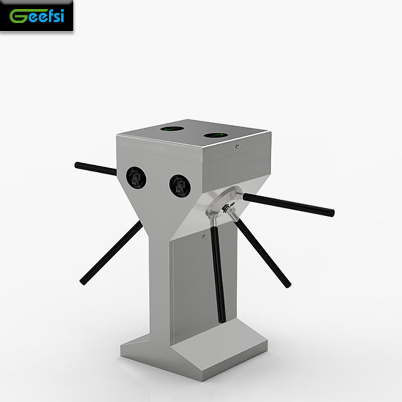Biometric identification automatic tripod turnstile with fingerprint reader