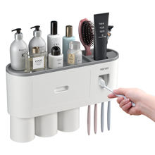 Amazon Top Seller Bathroom Toothbrush Holder Automatic Toothpaste Dispenser