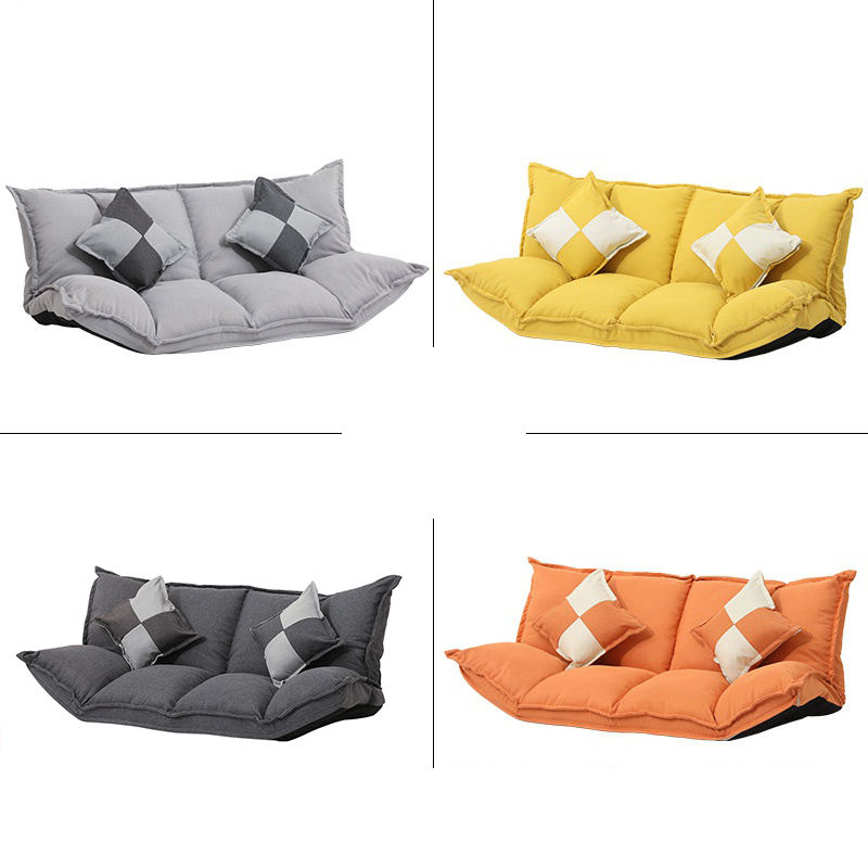 Modern Furniture Living Room Fabric Cover Sofas cum Bed Tatami Recliner Sofa Set