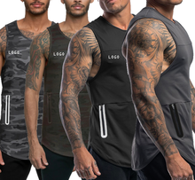 2019 Private Label Summer New Sports Yoga Vests Men Quick Drying Fitness  Bottoming Shirt Wholesale Gym Wear