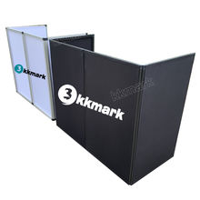 Professional Audio DJ Booth Foldable Cover Screen Decks DJ Event Facade Booth with carrying bags