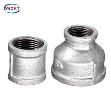 galvanized thread Malleable iron pipe fittings socket reducer