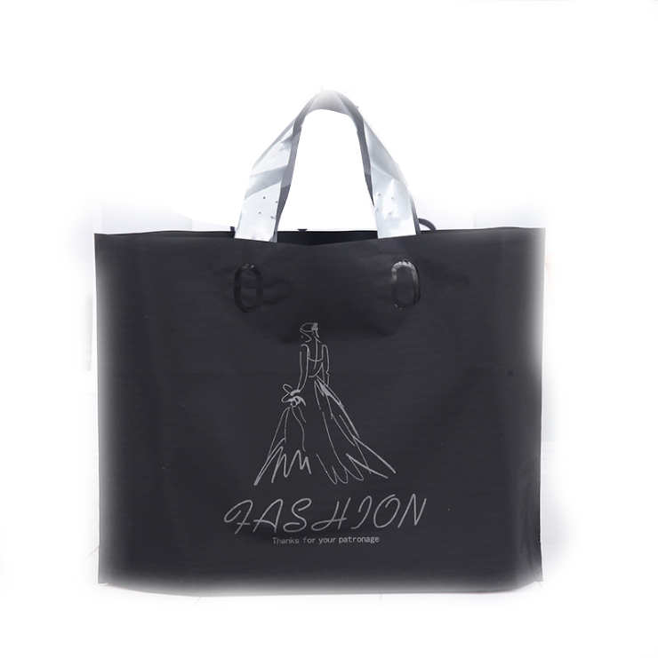 Luxury custom logo biodegradable waterproof shopping packaging plastic bags