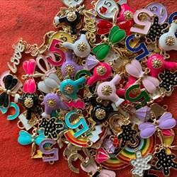 100pcs per lot various color enamel charms mix cute metal al