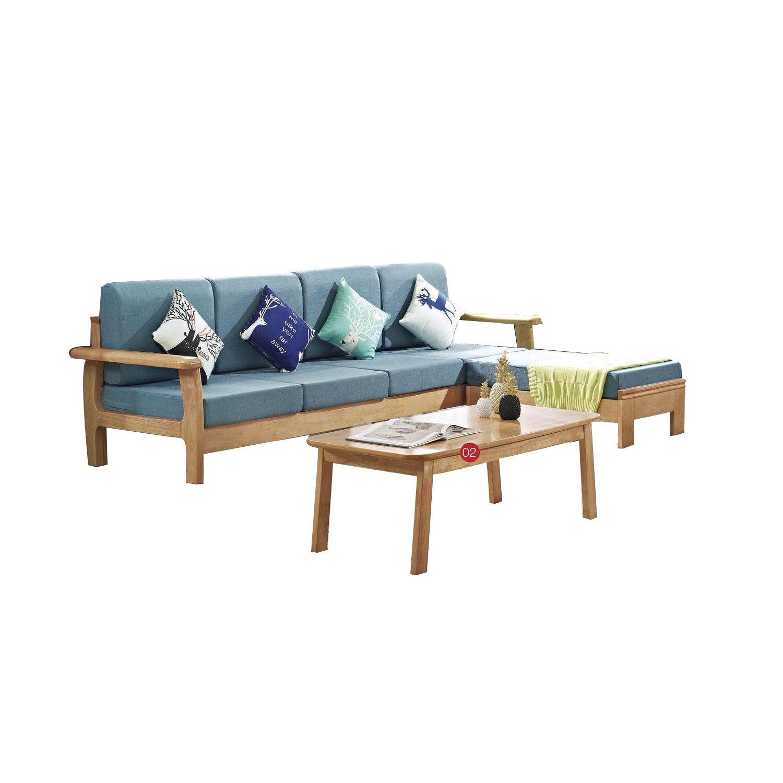 Nouveau design canapé ensemble meubles en bois massif cadre bras canapés Offre Spéciale