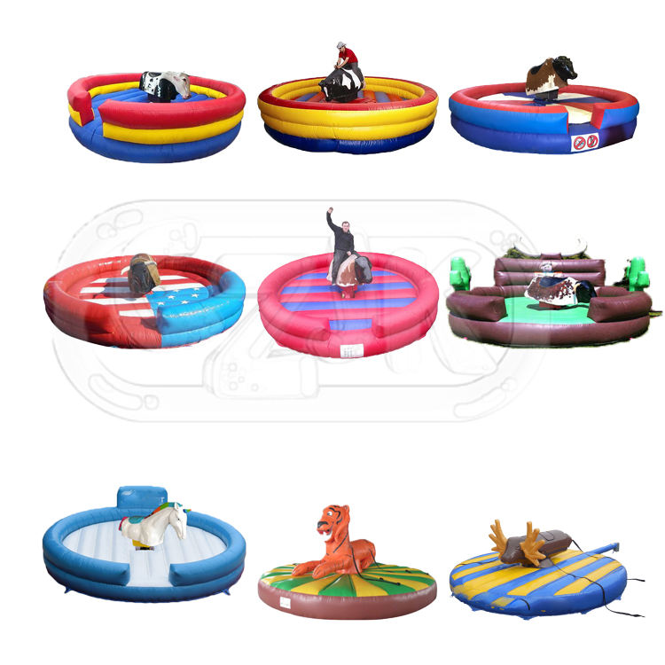 mechanical machine amusement kid bouncer inflatable rodeo bull riding for rent