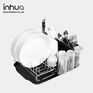 Factory manufacturer amazon hot -sale single-layer kitchen stand stainless dish rack