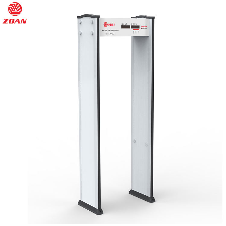 ZA3000C wholesale metal detector 6 zones walk through metal detector gate price cheapest arched metal detector