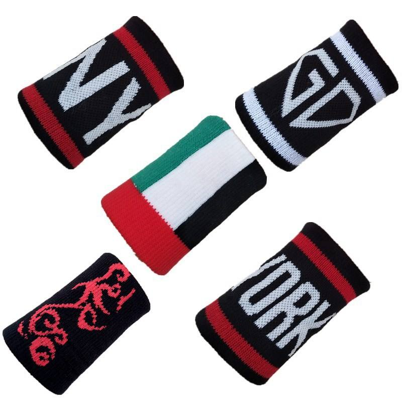polyester cotton Spandex elastic wrist cotton sweatband for existed hot sell models with fashion design logo