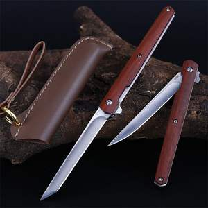 Hot Sale wood Handle Outdoor Hunting Folding Pocket Knife