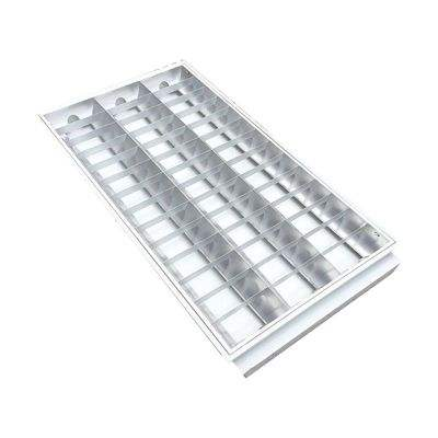 60X60 Grille Louvre Plafondlamp T8 Fluorescerende Fitting Met Transparante Diffuser