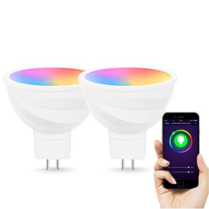 MR16 5W RGB+5800K Smart Spotlight Siri/Alexa Voice Controlled WiFi Smart LED Bulb