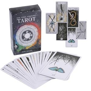 78 การ์ด Wild Unknown TAROT Deck Rider Waite Oracle ชุด Fortune Telling การ์ด