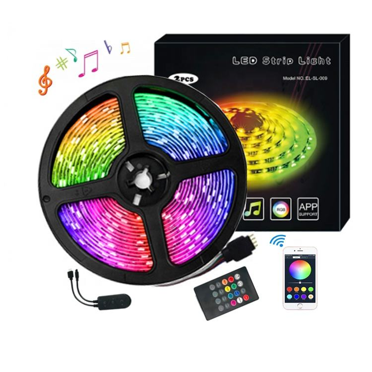 12V 24V 5050 smart wifi bluetooth music controller rgb rgbw led strip light kit